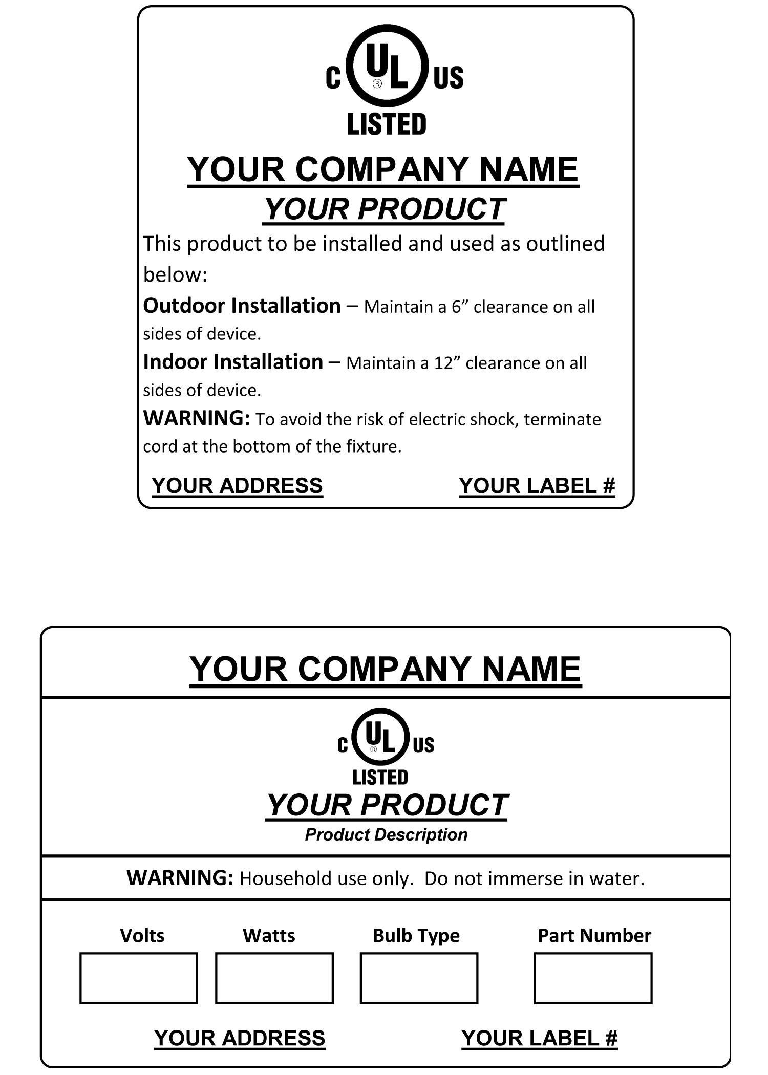 Ul Labels Seneca Label
